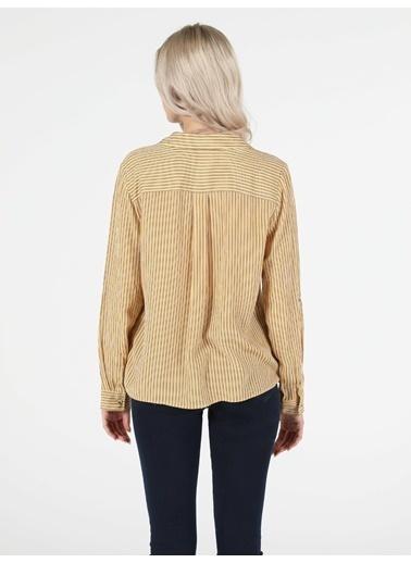 Colin's Regular Fit Shirt Neck Kadın Sarı Uzun Kol Gömlek Sarı